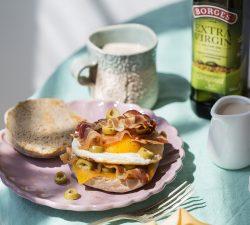 Anglický muffin s vajíčkem