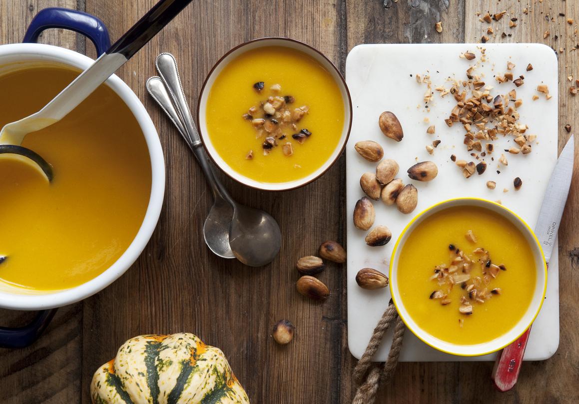 Dýňovo-pórková polévka